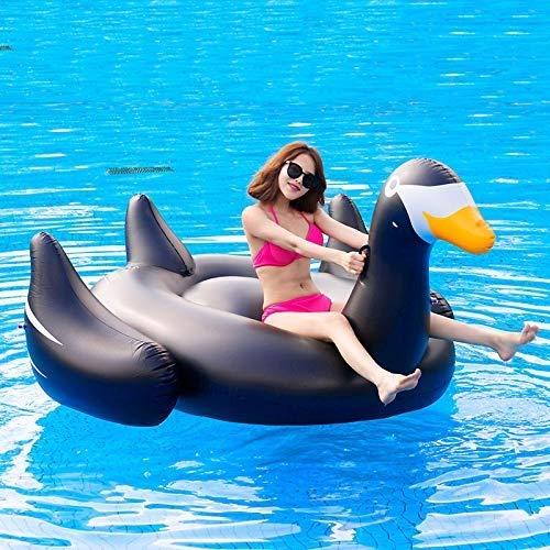Wasserspielzeug Reihenschwimmer Schwarzr Schwan Wasser Aufblasbare Spielzeug Aufblasbare Schwimmmatte Wasser Pad Sommer Tragbare Schwimmbad Strand Schwimm Pool Dekoration Erwachsene Kinder Paar