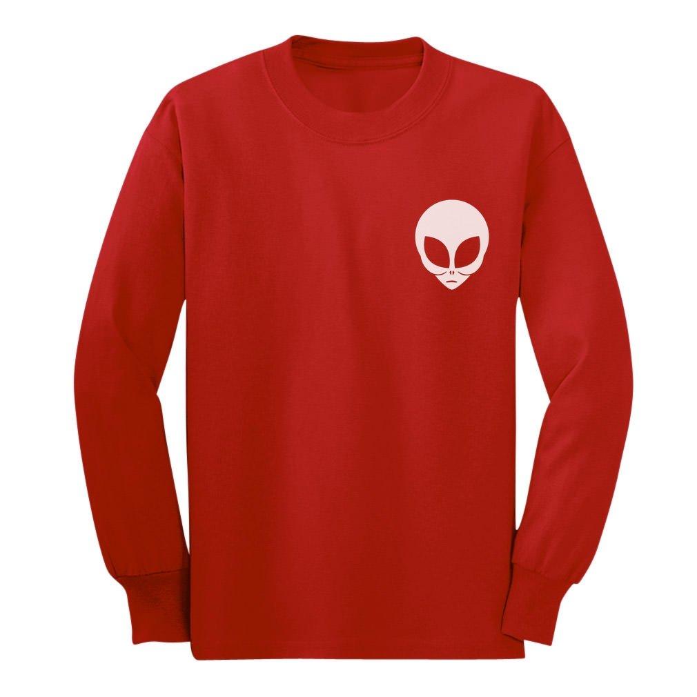 Alien Head - Believe Alien Face Print UFO Cute Long sleeve kids T-Shirt G0PMP00gCm