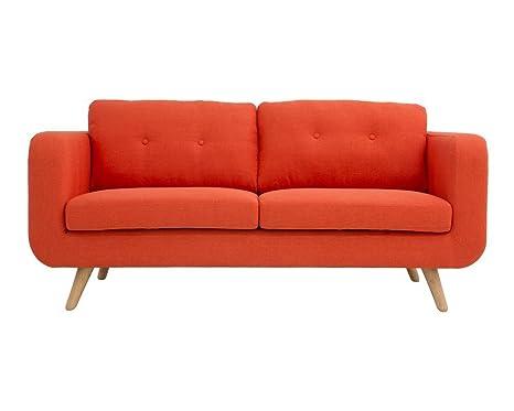 Oxydesign Sofa Naranja 2/3 plazas diseño escandinavo - Bori ...
