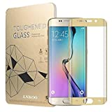Samsung Galaxy S6 Edge+ Plus Tempered Glass Screen Film Protector: Valuebuybuy 9H 0.2mm Thinest Full Cover Curved Edge to Edge Protection Armor Guard Shatterproof - S6 Edge Plus Gold