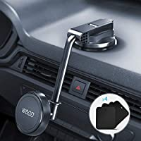 Phone Holder for Car, Upgraded Cell Phone Holder Mount for Car Windshield Dashboard with Strong Suction Cup for iPhone...