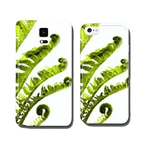 Tropical jungle as a blank frame with fern green plants cell phone cover case iPhone5