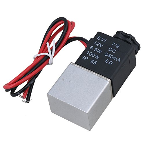 Mxfans 2 Way Pneumatic Electric Solenoid Air Vale IP65 12VDC Normally Open G1/8