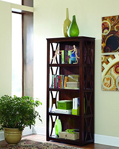 4 Shelf Contemporary Bookcase - 9