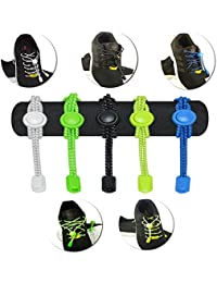 "<span class=""a-offscreen"">[Sponsored]</span>Elastic No-Tie shoelaces with neutral lock in Black, White, Neon Green, Neon Yellow, Royal Blue - Multipack"