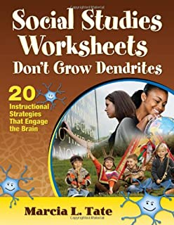 Worksheet Worksheets Don T Grow Dendrites science worksheets dont grow dendrites 20 instructional social studies strategies that engage the brain
