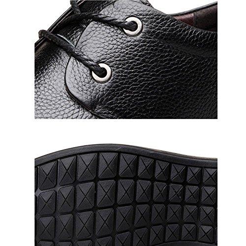 LYZGF Hommes Affaires Occasionnels Mode Coréenne Jeunesse Lacets Chaussures en Cuir Black PweuHPse