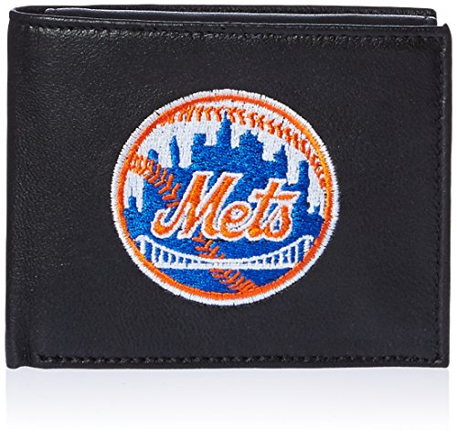 MLB New York Mets Embroidered Genuine Cowhide Leather Billfold Wallet