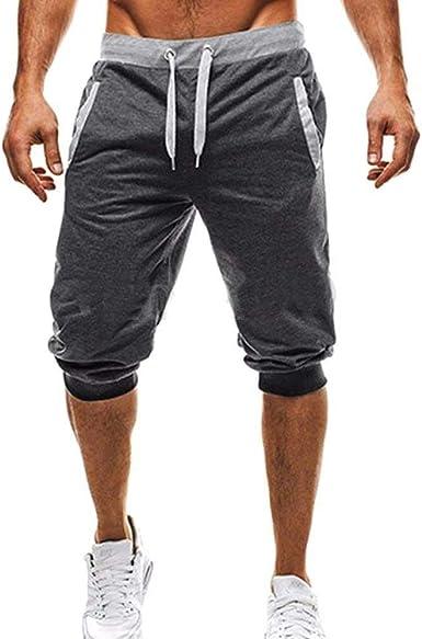 Verano Hombres Hombres Algodón De De Chándal Pantalones con Mode ...