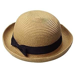 Amazon.com: OULII Moda sombrero de las niñas con Lazo de ala ...