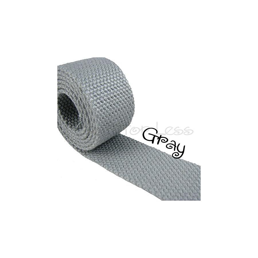10 Yard Cotton Webbing 1 1/4 Medium Heavy Weight Gray