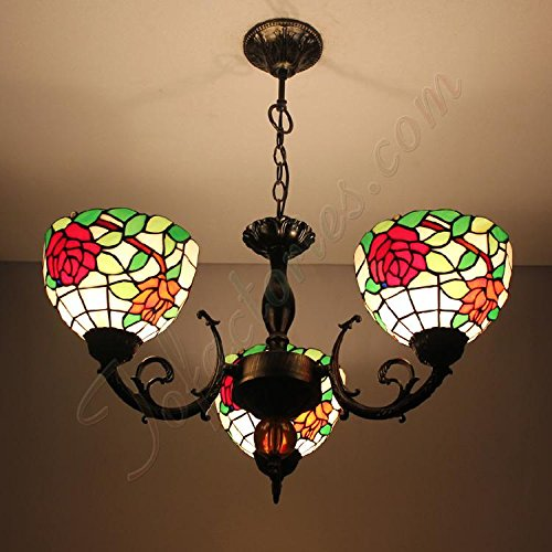 ETERN Continental Retro Roses Creative Chandeliers Pendant Light With 3 Lights