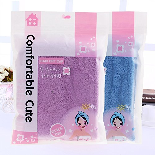 Hair Wrap Towel Microfiber Absorbent Hair Turban Twist Quick Drying Shower Cap for Women(2 Pack) by ZKLKLO (Image #3)