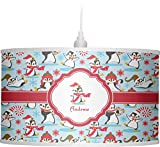 RNK Shops Christmas Penguins Drum Pendant Lamp Polyester (Personalized)