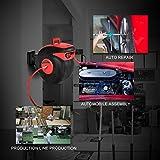 "COSTWAY 3/8"" x 100' Retractable Auto Rewind Air Hose Reel Tools Compressor 300 PSI Garage for Auto Repair"