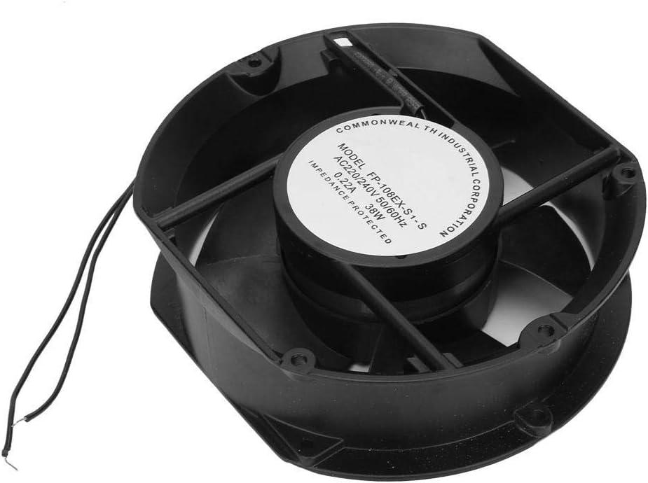 Weiyiroty Ventilador axial Ovalado, Ventilador axial AC220V AC de Baja energía, Puerta de 38 W para Estufa de leña de Chimenea de ventilación de refrigeración DIY