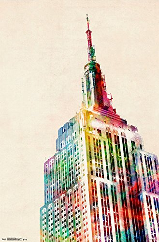 Trends International Empire State Building Wall Poster 22.375