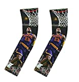 Forever Fanatics Cleveland James #23 Pack of 2 Basketball Fan Compression Shooter Picture Arm Sleeves ✓ Muscle Recovery ✓ Improve Circulation (Youth Size (6-13 Years), James #23 Pack of 2)
