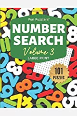 "Fun Puzzlers Number Search: 101 Puzzles Volume 3: 8.5"" x 11"" Large Print (Fun Puzzlers Large Print Number Search Books) Paperback"