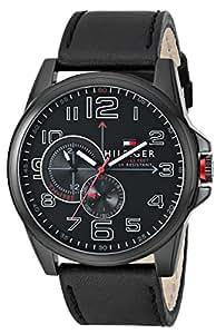 Tommy Hilfiger 1791005 - Reloj para hombres, correa de cuero color negro