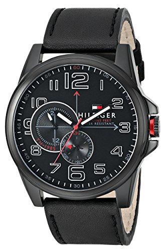 Tommy Hilfiger Men's 1791005 Analog Display Japanese Quartz Black Watch