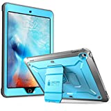 PC Hardware : SUPCASE iPad 9.7 Case 2018 / 2017, Heavy Duty [Unicorn Beetle PRO Series] Full-body Rugged Protective Case with Built-in Screen Protector & Dual Layer Design for Apple iPad 9.7 inch 2017 / 2018 (Blue)