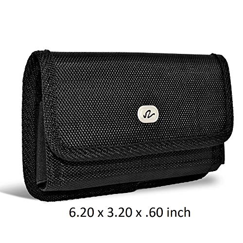 Horizontal Heavy Duty Protective Case Holster with Clip for BlackBerry Key2 Devices - (Pouch Dimension: 6.20 x 3.20 x 0.60 -