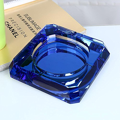XUEXIN Crystal glass ashtray Continental bedroom living room fashion gifts Ashtray , 20cm , b by XUEXIN