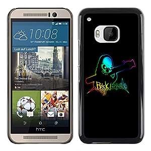 TopCaseStore / la caja del caucho duro de la cubierta de protección de la piel - Brick Bazooka - HTC One M9