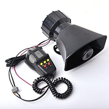 5 tonos Sirena Policía Alarma cuerno 12 V 100 W coche ...