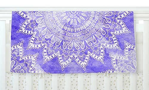 KESS InHouse Nika Martinez Boho Flower Mandala in Purple Lavender Fleece Baby Blanket 40 x 30 [並行輸入品]   B077ZS7F35