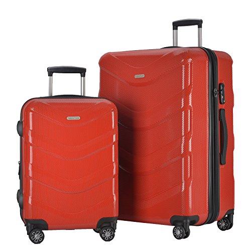 2 Piece Luggage Set Durable Lightweight Hard Case Spinner Suitecase LUG2 RA8713...