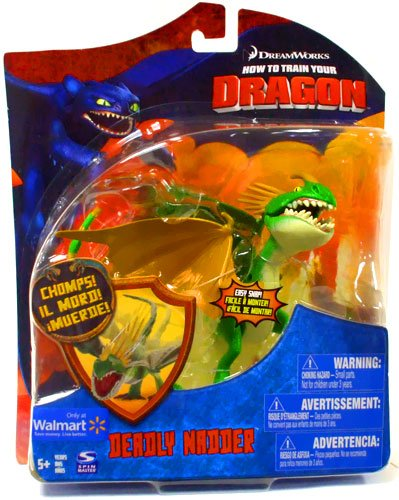 How To Train Your Dragon Movie Deluxe 7 Inch Action Figure Deadly Nadder Green Orange