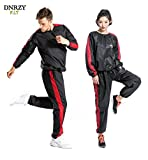 DNRZY Fitness Sweet Suits Unisex Anti-Rip Sport Suits Running Slimming Sauna Suit for Lose Weight Fat Burner Sweat Workout Clothes Durable Long Sleeves Review