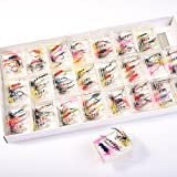 BLISSWILL 96Pcs Fly Fishing Lures Dry Flies Set Floating Flies Hooks for Bass Salmon Trout