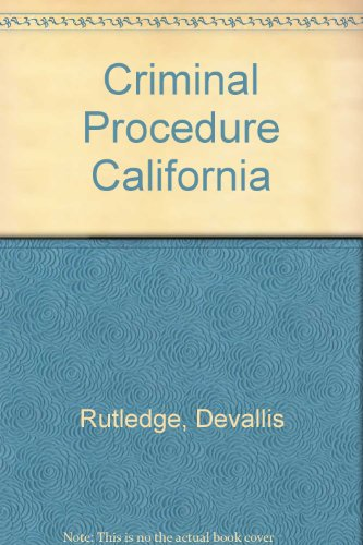 Criminal Procedure California