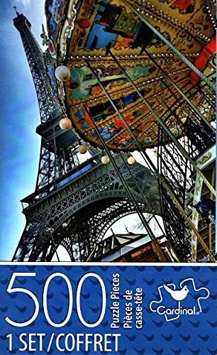 Cardinal Industries Eiffel Tower and Carousel - 500 Piece Jigsaw Puzzle - p007 -