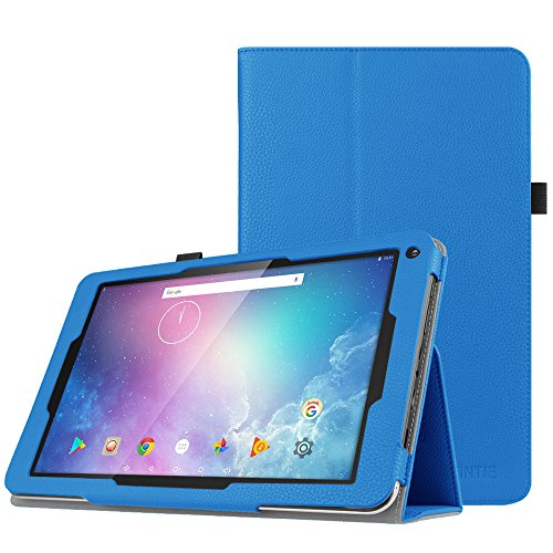 Fintie Folio Case for Dragon Touch V10 10-Inch Android Tablet, Slim Fit Premium PU Leather Stand Cover with Stylus Holder, Royal Blue