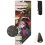 Abstract Paintings Loveing Multicolor Deluxe,Yoga Mat Aerobic Exercise Pilates Anti-Slip Gymnastics Mats
