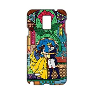 Angl 3D Case Cover Beauty And Beast Cartoon Anime Phone Case for Samsung Galaxy Note4