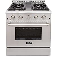 Kucht KRG3080U/LP Professional 30 4.2 cu. ft. Propane Gas Range with Sealed Burners and Convection Oven, Stainless-Steel