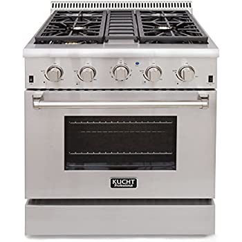 gas range. Kucht KRG3080U Professional 4.2 Cu. Ft. Natural Gas Range With Sealed Burners And Convection N