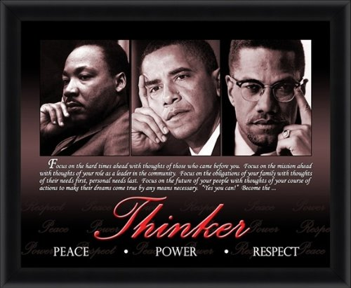 The Thinker (Barack Obama, Martin Luther King and Malcolm X)