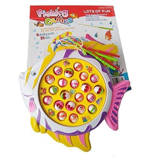 Hongcheng electronic funny go fishing game toy board set for Fishing games for girls