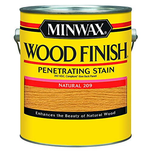 Minwax 710700000 Wood Finish - Penetrates, Stains & Seals, 250 VOC, gallon, Natural ()