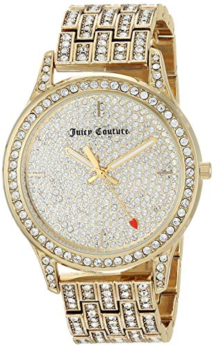 - Juicy Couture Black Label Women's  Swarovski Crystal Accented Gold-Tone Bracelet Watch
