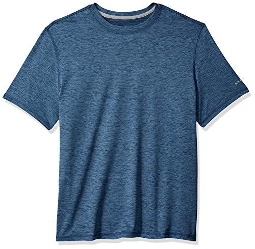 (G.H. Bass & Co. Men's Sunblocker Short Sleeve Crewneck T-Shirt, Navy Blazer Heather,)