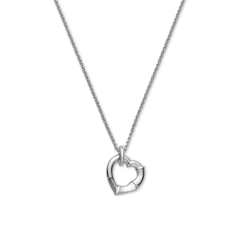 Gucci Women's 50cm Bamboo Necklace Silver Necklace