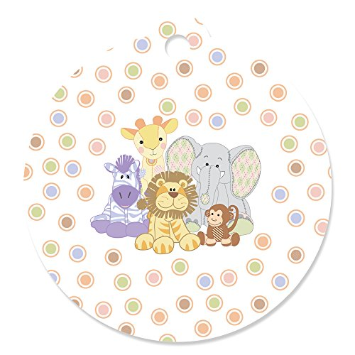 Zoo Crew - Zoo Animals Baby Shower or Birthday Party Favor Gift Tags (Set of 20) (Zoo Tags)