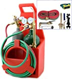9TRADING Professional Portable Oxygen Acetylene Oxy Welding Cutting Weld Torch Tank Kit, Free Tax, Delivered within 10 days